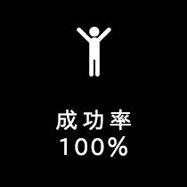成功率100%