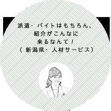 派遣・バイトはもちろん、紹介がこんなに来るなんて!(新潟県・人材サービス)