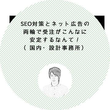 SEO対策とネット広告の両輪で受注がこんなに安定するなんて!(栃木県・設計事務所)